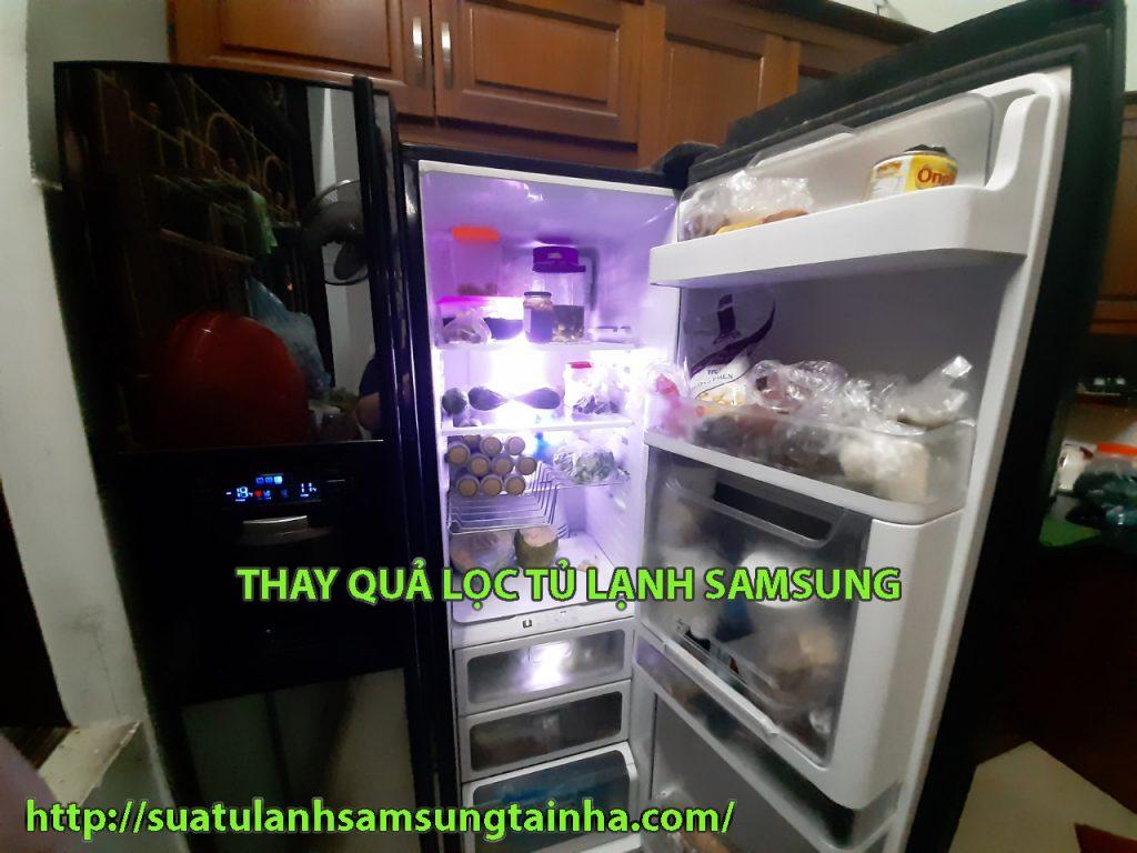 thay quả lọc tủ lạnh samsung