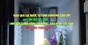Thay quả lọc nước tủ lạnh samsung
