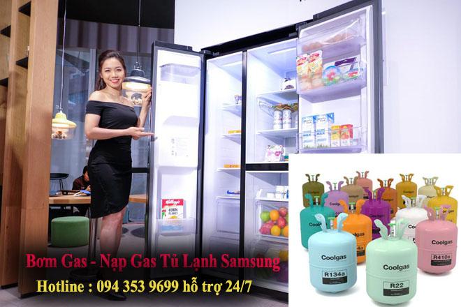 Bơm gas, nạp gas tủ lạnh samsung tại nhà