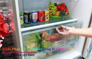 Nguyên nhân tủ lạnh bị chảy nước