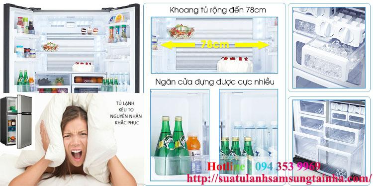 Khắc phục tủ lạnh bị kêu to
