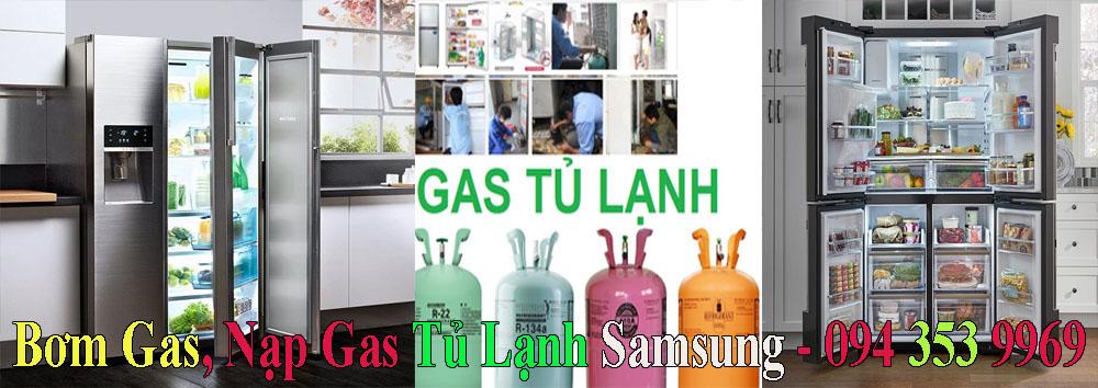 bơm gas nạp gas tủ lạnh samsung tại nhà